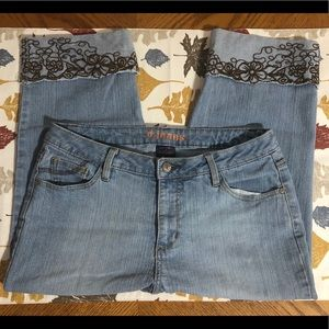 Women's D.Jeans Cuffed Cropped Jeans Size 12